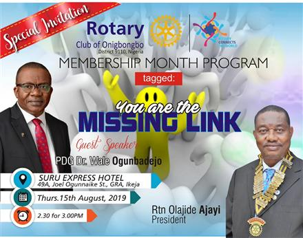 Way To Success In Rotary &You Are The Missing Link