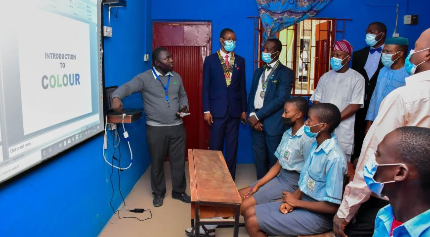 Commissioning of the E=Learning Classrooms at Wasinmi Senior High School Wasinmi Onigbongbo